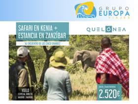 SAFARI EN KENIA + ESTANCIA EN ZANZIBAR